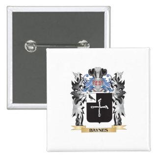 Escudo de armas de Baynes - escudo de la familia Pin Cuadrada 5 Cm