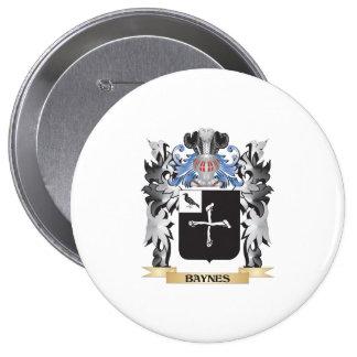 Escudo de armas de Baynes - escudo de la familia Pin Redondo 10 Cm