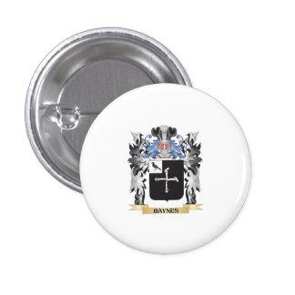 Escudo de armas de Baynes - escudo de la familia Pin Redondo 2,5 Cm