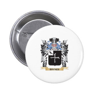 Escudo de armas de Baynes - escudo de la familia Pin Redondo 5 Cm