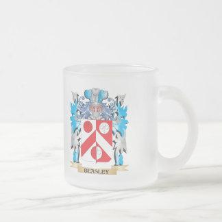 Escudo de armas de Beasley Taza Cristal Mate