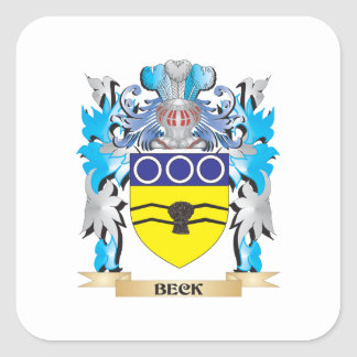 Escudo de armas de Beck Pegatinas Cuadradases Personalizadas