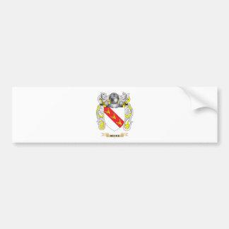 Escudo de armas de Becke escudo de la familia Pegatina De Parachoque