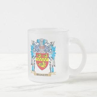 Escudo de armas de Beckett Tazas De Café