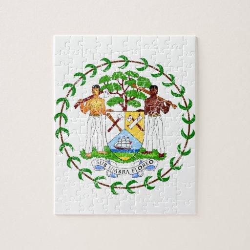 Escudo de armas de Belice Puzzles Con Fotos