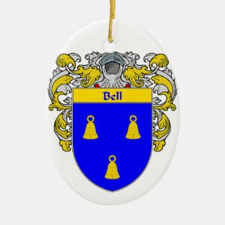 Escudo de armas de Bell/escudo de la familia Adorno Ovalado De Cerámica