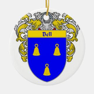 Escudo de armas de Bell/escudo de la familia Adorno Redondo De Cerámica