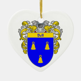 Escudo de armas de Bell/escudo de la familia Adorno De Cerámica En Forma De Corazón