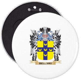 Escudo de armas de Bellamy - escudo de la familia Pin Redondo 15 Cm