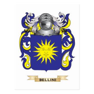 Escudo de armas de Bellini (escudo de la familia) Tarjetas Postales