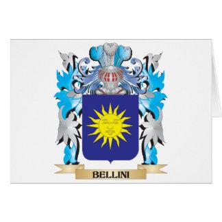 Escudo de armas de Bellini Tarjetón