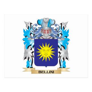 Escudo de armas de Bellini Tarjetas Postales