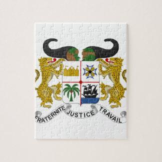 Escudo de armas de Benin Rompecabeza Con Fotos