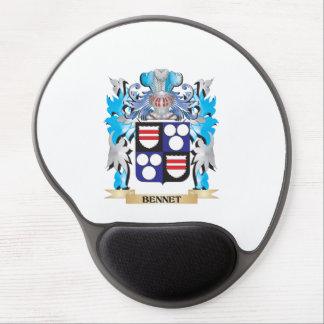 Escudo de armas de Bennet Alfombrillas De Ratón Con Gel