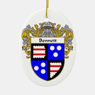 Escudo de armas de Bennett/escudo de la familia Adorno Ovalado De Cerámica