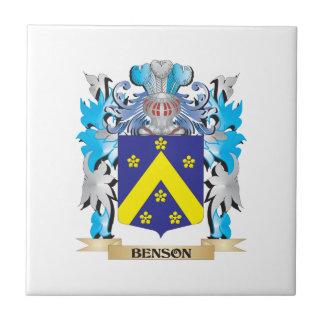 Escudo de armas de Benson Azulejo Cerámica