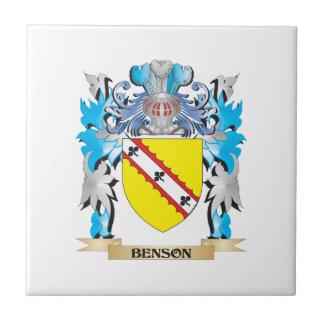 Escudo de armas de Benson Azulejos Ceramicos