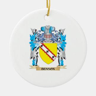 Escudo de armas de Benson Ornamento Para Reyes Magos