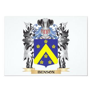 """Escudo de armas de Benson - escudo de la familia Invitación 5"""" X 7"""""""
