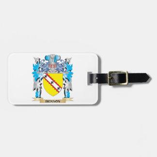 Escudo de armas de Benson Etiqueta Para Equipaje