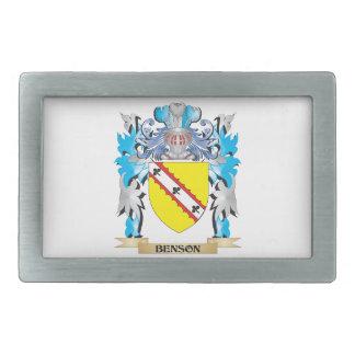 Escudo de armas de Benson Hebilla Cinturon Rectangular