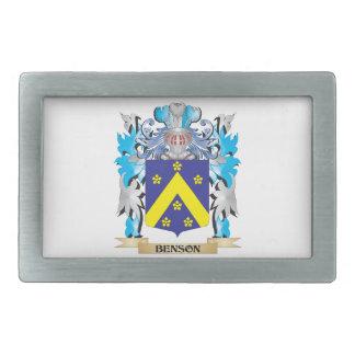 Escudo de armas de Benson Hebillas De Cinturón Rectangulares