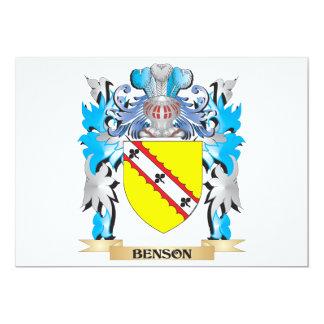 """Escudo de armas de Benson Invitación 5"""" X 7"""""""