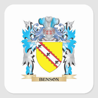 Escudo de armas de Benson Pegatina Cuadradas Personalizada
