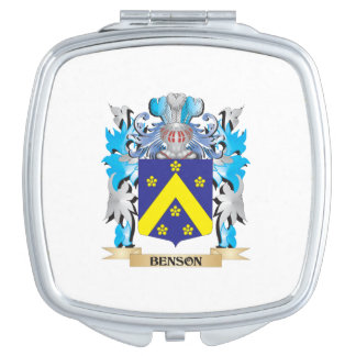 Escudo de armas de Benson Espejo Para El Bolso