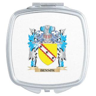 Escudo de armas de Benson Espejos De Viaje