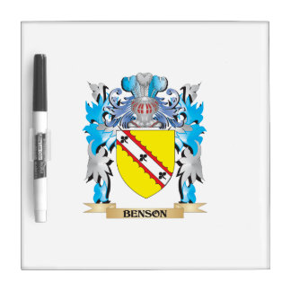 Escudo de armas de Benson Pizarras Blancas De Calidad