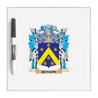Escudo de armas de Benson Pizarra Blanca