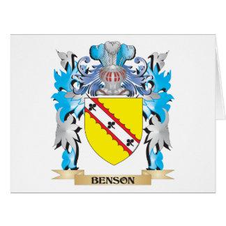 Escudo de armas de Benson Felicitacion