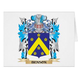 Escudo de armas de Benson Felicitación