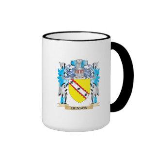 Escudo de armas de Benson Tazas De Café