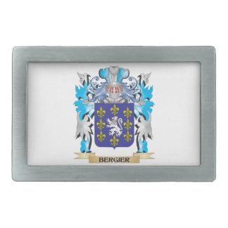 Escudo de armas de Bergier Hebillas De Cinturon Rectangulares