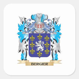 Escudo de armas de Bergier Calcomania Cuadradas Personalizada