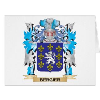 Escudo de armas de Bergier Tarjeta