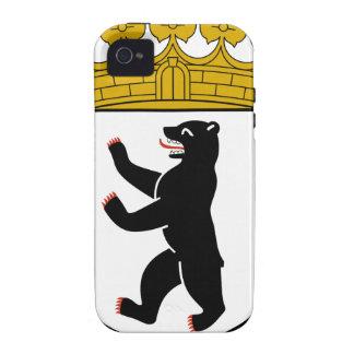 Escudo de armas de Berlín (Alemania) iPhone 4 Fundas