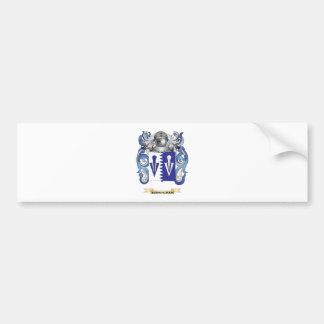 Escudo de armas de Bermingham (escudo de la famili Pegatina De Parachoque