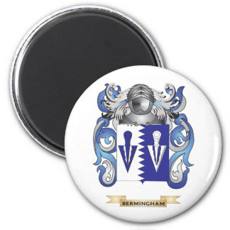 Escudo de armas de Bermingham (escudo de la famili Imán Redondo 5 Cm