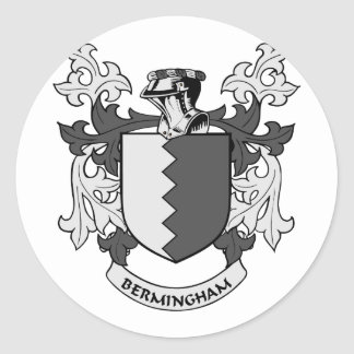 Escudo de armas de BERMINGHAM Pegatina Redonda