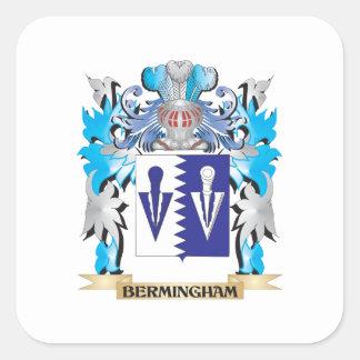 Escudo de armas de Bermingham Pegatina Cuadrada