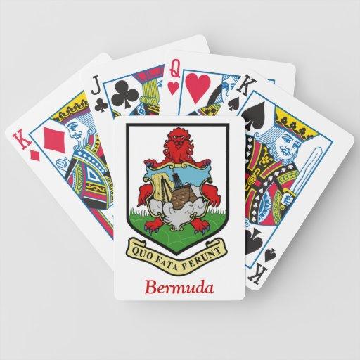 Escudo de armas de Bermudas Baraja De Cartas
