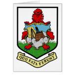 Escudo de armas de Bermudas con lema Felicitación