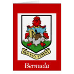 Escudo de armas de Bermudas Felicitacion