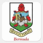 Escudo de armas de Bermudas Calcomanías Cuadradases