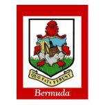 Escudo de armas de Bermudas Postales