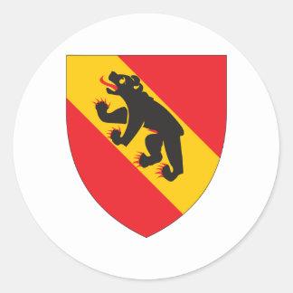 Escudo de armas de Berna Pegatina Redonda