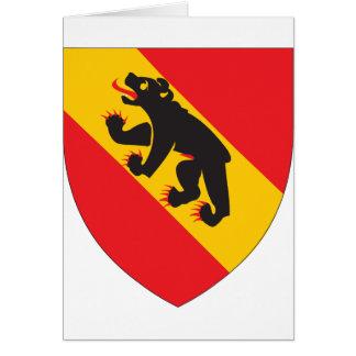 Escudo de armas de Berna Tarjeta De Felicitación